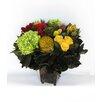 Bougainvillea Copper Square Mini Container with Clover, Roses, Banksia, Protea and Hydrangea