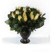 Bougainvillea Metal Trophy Small Vase with Protea