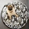 <strong>Backyard Camouflage Round Dog Pillow</strong> by P.L.A.Y.