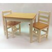 Apple Furniture Just For Kids 3 Piece Table and Chair Set