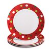 "<strong>Rachael Ray</strong> Hoot's Decorated Tree 11.8"" Dinner Plates (Set of 4)"