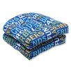 Pillow Perfect Grillin Wicker Seat Cushion (Set of 2)