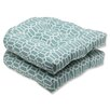 <strong>Pillow Perfect</strong> Rhodes Wicker Seat Cushion (Set of 2)