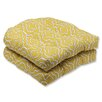 Pillow Perfect Starlet Wicker Seat Cushion (Set of 2)