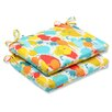 Pillow Perfect Paint Splash Seat Cushion (Set of 2)