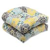 Pillow Perfect Full Bloom Wicker Seat Cushion (Set of 2)