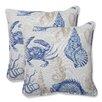 Pillow Perfect Sealife Throw Pillow (Set of 2)