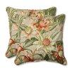 Pillow Perfect Botanical Glow Tiger Stripe Throw Pillow (Set of 2)