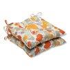 Pillow Perfect Paint Splash Wrought Iron Seat Cushion (Set of 2)