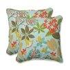 Pillow Perfect Fancy a Floral Throw Pillow (Set of 2)