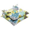 Pillow Perfect Floral Fantasy Wrought Iron Seat Cushion (Set of 2) (Set of 2)