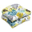 Pillow Perfect Floral Fantasy Wicker Seat Cushion (Set of 2)