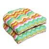 Pillow Perfect Panama Wave Wicker Seat Cushion (Set of 2)