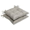 <strong>Pillow Perfect</strong> Seeing Spots Wrought Iron Seat Cushion (Set of 2)
