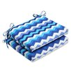 Pillow Perfect Panama Wave Seat Cushion (Set of 2)