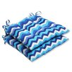 Pillow Perfect Panama Wave Wrought Iron Seat Cushion (Set of 2)