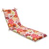 Pillow Perfect Floral Fantasy Chaise Lounge Cushion