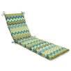Pillow Perfect Zig Zag Chaise Lounge Cushion