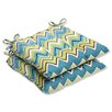 Pillow Perfect Zig Zag Wrought Iron Seat Cushion (Set of 2)