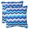 Pillow Perfect Panama Wave Throw Pillow (Set of 2)