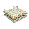 Pillow Perfect Parallel Play Wrought Iron Seat Cushion (Set of 2)