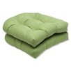 Pillow Perfect Canvas Wicker Seat Cushion (Set of 2)