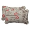 <strong>Carte Postale Throw Cushion (Set of 2)</strong> by Pillow Perfect