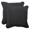 Pillow Perfect Canvas Throw Cushion (Set of 2)