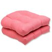 Pillow Perfect Fresco Wicker Seat Cushion (Set of 2)
