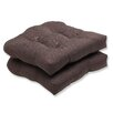 <strong>Pillow Perfect</strong> Forsyth Wicker Seat Cushion (Set of 2)
