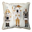 Pillow Perfect Holiday Embroidered Nutcrackers Throw Pillow