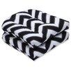 Pillow Perfect Chevron Wicker Seat Cushion (Set of 2)