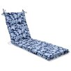 Pillow Perfect Lahaye Indigo Chaise Lounge Cushion