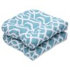Pillow Perfect New Geo Wicker Seat Cushion (Set of 2)