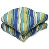 Pillow Perfect Browning Sunblue Wicker Seat Cushion (Set of 2)