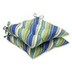 Pillow Perfect Browning Sunblue Wrought Iron Seat Cushion (Set of 2)