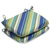 Pillow Perfect Browning Sunblue Rounded Corner Seat Cushion (Set of 2)