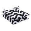 Pillow Perfect Chevron Wrought Iron Seat Cushion (Set of 2)