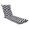 Pillow Perfect Chevron Chaise Lounge Cushion