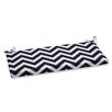 Pillow Perfect Chevron Bench Cushion