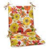 Pillow Perfect Squared Corners Dining Chair Cushion