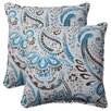 <strong>Pillow Perfect</strong> Paisley Corded Throw Pillow (Set of 2)