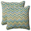 <strong>Pillow Perfect</strong> Cosmo Chevron Corded Throw Pillow (Set of 2)