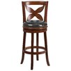 Flash Furniture 29'' Wood Bar Stool with Leather Swivel Seat