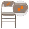Flash Furniture Hercules Series Personalized Triple Braced and Quad Hinged Metal Folding Chair