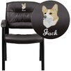 <strong>Flash Furniture</strong> Personalized Leather Reception Chair