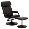Flash Furniture Contemporary Leather Recliner and Ottoman I