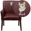 Flash Furniture Personalized Leather Executive Reception Chair