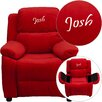 Flash Furniture Kids Personalized Deluxe Recliner