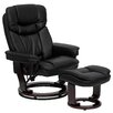 Flash Furniture Contemporary Leather Recliner and Ottoman II